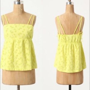 Anthropologie All Court Advantage Tank In Yellow